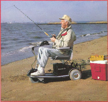Ahhh me in my old age...boy am I happy on my rascal...just fishing....if I catch a big fish does it just pull me and the rascal into the ocean?