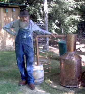 how to make moonshine mash with cracked corn