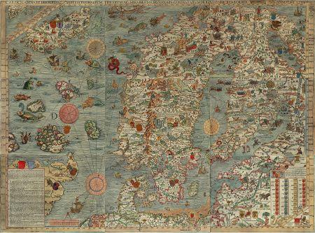Carta Marina, Sea Monsters Map