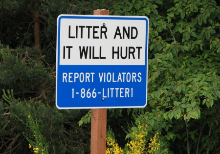 Litter Campaign Washington State, Litter and it will hurt,